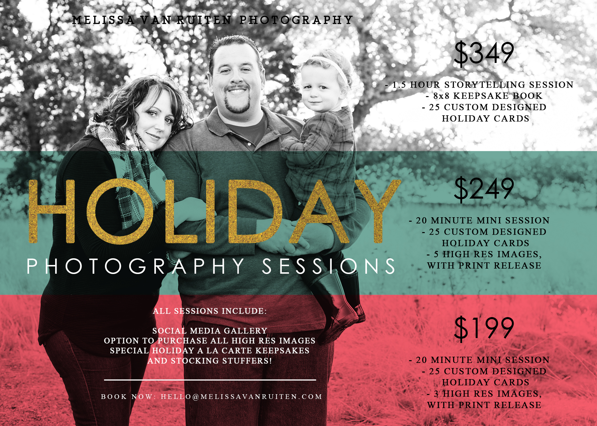 bay area holiday photo sessions